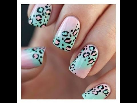 Uñas decoradas de leopardo