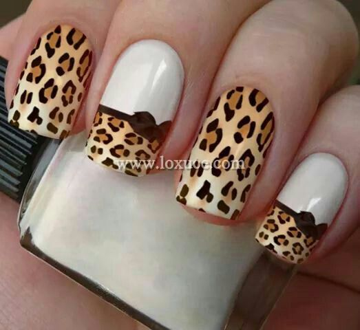 fotos de uñas decoradas con animal print