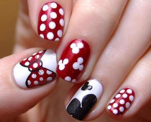 fotos de uñas decoradas de minnie mouse
