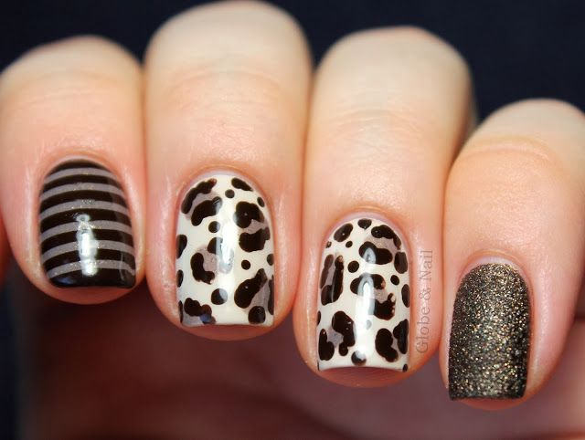 imagenes de uñas decoradas con animal print