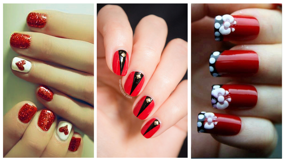 Fotos de uñas decoradas en rojo