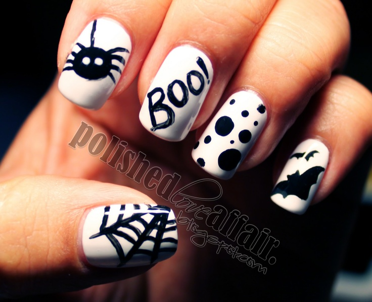 fotos de uñas decoradas para halloween nails