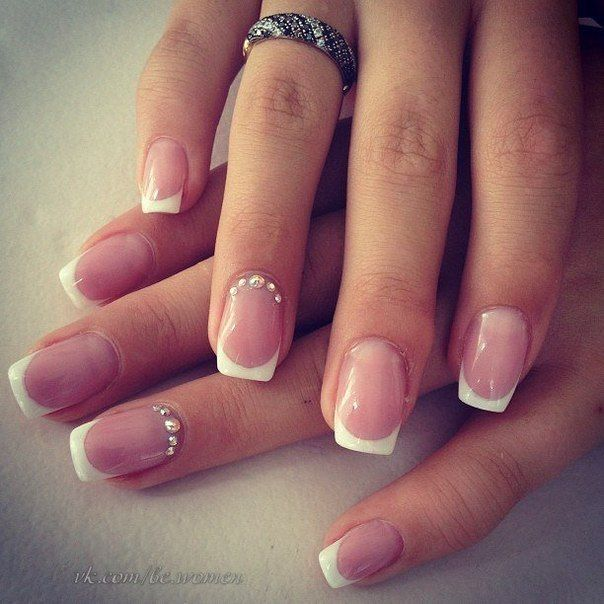 uñas decoradas french blanco
