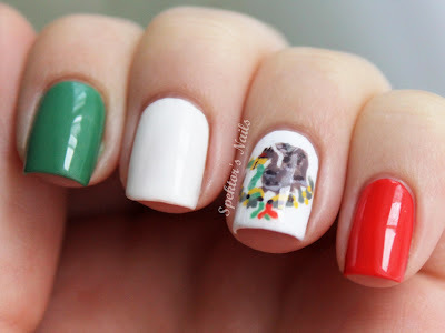 uñas decoradas patrioticas mexicanas