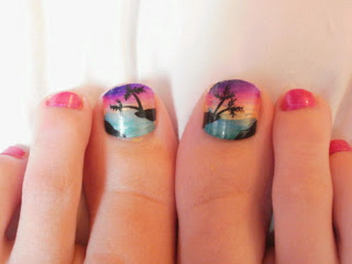 Fotos de uñas de pies decoradas