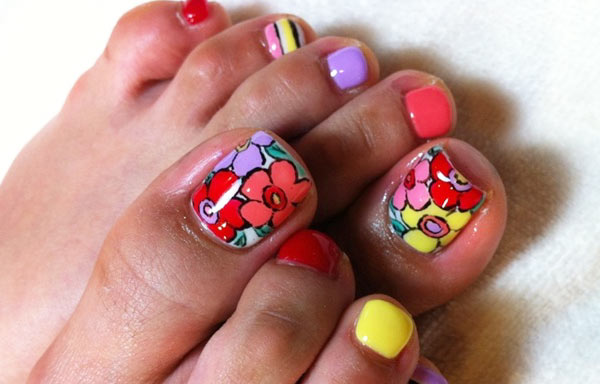 100 Ideas De Uñas Decoradas Sencillas Para Pies Tendencias